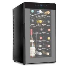 NutriChef 18 Bottle Thermoelectric Red And White Wine Cooler Chiller