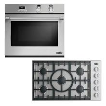 Fisher   Paykel DCS 2 PC Kitchen Package WOSV 30 Wall Oven  CDV2365HL Cook Top
