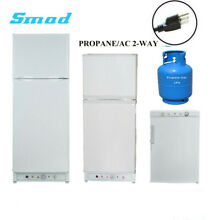SMAD Propane Gas Refrigerator AC LPG 2 Way Fridge Top Freezer 3 5 6 5 9 7 Cu Ft