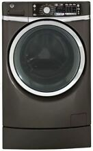 GE 28  Black 4 8 cu  ft  Front Load Washer GFWR4805FMC
