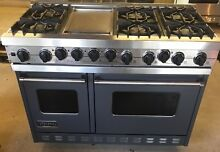 GRAY VIKING 48  DUAL FUEL RANGE IN GREAT CONDITION  LOCAL PICKUP CT NY NJ AREA