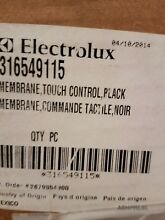 Frigidaire  316549115 Range Touch Control Panel Assembly  Black  for FRIGIDAIRE