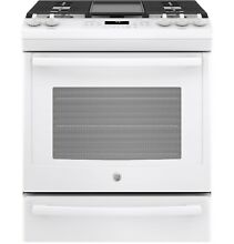 GE  JGS760DELWW 30  Slide In Front Control Convection Gas Range