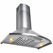 30  Wall Mount Brushed Stainless Steel Modern Range Hood  Y RH0342