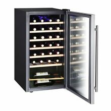 Vissani 17 in  28 Bottle Wine Cooler in Stainless Steel   Phoenix Local Pickup
