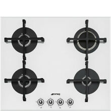 Smeg PV164B1 Linea Aesthetic 60cm Integrated Gas Hob  White Glass