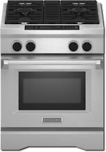 KitchenAid KDRS407VSS 30  4 Burner Dual Fuel Freestanding Range Stainless Steel