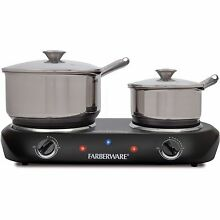 Portable Electric Stove Top 2 Burners Cook Range Oven Hot Plate Kitchen Dorm RV