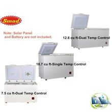 SMAD Solar Powered Chest Fridge Freezer Off Grid Dual Zone Outdoor Camp Cabin
