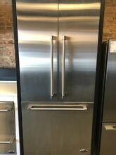RS36A80JC1 W RD3684CUDCS DCS 36  BUILT IN FRENCH DOOR FRIDGE W SS PANELS DISPLAY