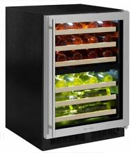 Marvel 24  Built In Dual Zone Right Hinge Wine Refrigerator ML24WDG3RS