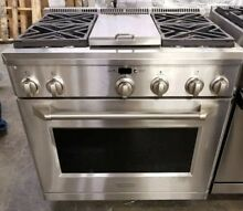 GE MONOGRAM 36  ALL GAS PROFESSIONAL RANGE 4 BURNER   GRIDDLE GENTLY USED
