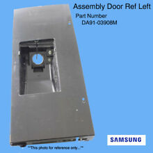 OEM Samsung  DA91 03908M Refrigerator Door Assembly  Left Black Stainless Steel