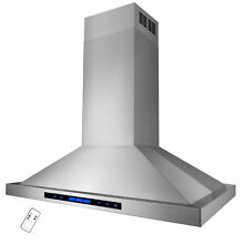36  Stainless Steel Island Range Hood w  Dual LED Touch Control Panel  Y RH0217