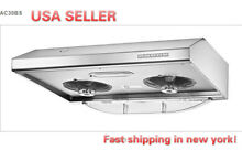 PACIFIC  AC3000 Auto Clean Seamless S S Range Hood 30  USA Seller