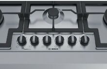 Bosch PCT9A5B90 Gas Hob Stainless Steel with FlameSelect 90cm Serie 6