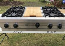 Viking 36   Pro Stainless Rangetop 4 burner and Griddle And Down Draft