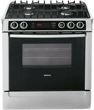 Bosch HDI7052U Stainless Steel 700 Series Dual Fuel Slide in Range 30 Inch
