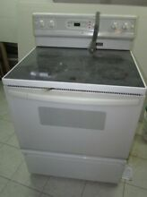 Kenmore 30  Glass Top White Smoothtop Electric Stove Model 911 9554590