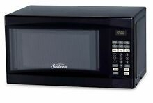Sunbeam 0 7 Cu Ft  700W Microwave Oven   Black
