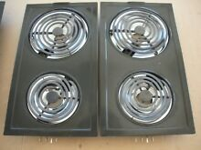Jenn air A100 Model Electric Two Coil Burner   Black w silver drip pans