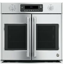GE CT9070SHSS Caf  Series 30  Built In French Door Single Convection Wall Oven