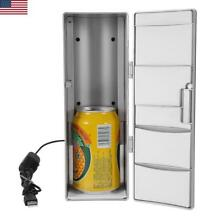 Portable Practical Mini USB Fridge Freezer Can Beverage Drink Beer Cooler Warmer