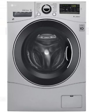 LG WM3488HS 24 In Silver Ventless Electric Washer Dryer Combo