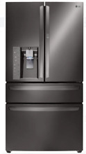 LG LMXS30776D Black Stainless 4 Door French Door Refrigerator Door in Door