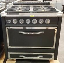 VIKING TUSCANY SERIES 36  PRO STYLE DUAL FUEL RANGE IN GRAPHITE BLACK