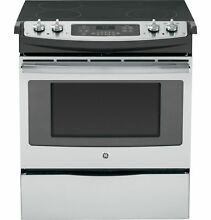 GE  JS630SFSS 30  Slide In Front Control Electric Range