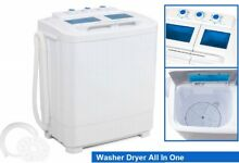 Washer 33L Combo 16L Dryer Compact Mini Portable Electric Washing Machine Wash