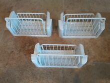 GE Refrigerator Freezer door baskets 2 of WR21X10054 and 1 of WR21X10053
