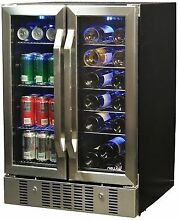 Newair AWB 360DB 18 Bottle 58 Can Dual Zone Built in Wine and Beverage Cooler