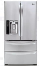LG LMXS27626S 4 Door French Door Refrigerator Stainless Steel 27 cu  ft