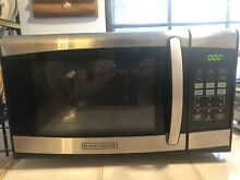 Black Decker 0 9cu FT 900watt Microwave Oven Stainless Steel