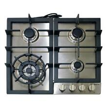 Magic Chef MCSCTG24S 24  Stainless Steel Gas Cooktop With 4 Burners