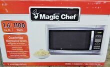 Magic Chef 1100 Watts Countertop Microwave Oven  hmm1611  1 6 cu ft  STAINLESS