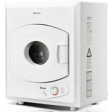 2 65 Cu  Ft  Electric Tumble Compact Laundry Dryer Stainless Steel Wall Mounted