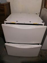 Whirlpool Duet White 27x27x15 Laundry Pedestal with Storage Drawer