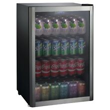 Whirlpool 4 5 Cu Ft  Mini Refrigerator Beverage Center Stainless Steel JC 133