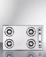 Summit Gas Cooktop 30   With Four 4 Burners   Gas Spark Ignition Chrome ZNL053