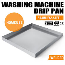 32 x30  Stainless Washing Machine Drain Pan w  Drain Hole Washer Tray Heavy Duty