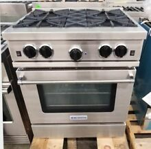 BLUE STAR 30  CULINARY SERIES OPEN BURNER RANGE STAINLESS STEEL REFURBISHED