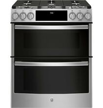 GE Profile PGS960SELSS 30  SlideIn Front Control Gas DBL Oven Convection Range