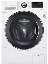 LG WM3488HW 24  Front Loading Electric Washer Dryer   White