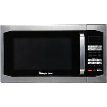Magic Chef MCM1611ST 1 6 Cu  Ft  1100W Countertop Microwave Oven with Stylish