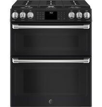 GE CGS995EELDS Caf  30  Slide In Front Control Gas Double Oven w  Convection