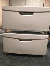 2  Samsung White Pedestal WE357A7W XAA for Washer Dryer  with Parts