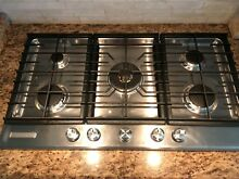 KitchenAid 36  Gas Range Cooktop KFGS366 Stainless Steel Great Condition